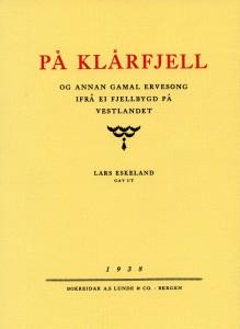 På klårfjell 1938