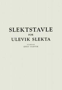 Slektstavle Ulevik 1976