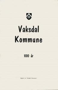 vaksdal kommune 100 år 1